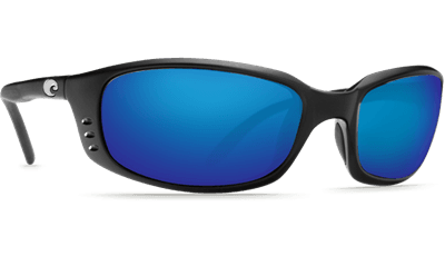 Picture of Brine Sunglasses - Matte Black/Blue Mirror 580G