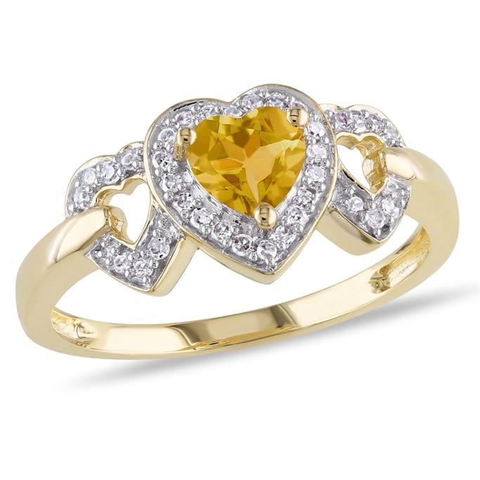 10k White Gold Diamond And 4//5 Ct TGW Aquamarine Fashion Ring GH I2;I3