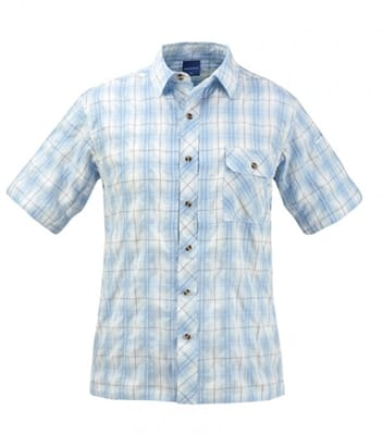 Picture of Men's Covert Button Up Shirt - Light Blue Plaid - S