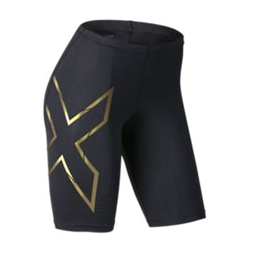 Picture of Women's Elite MCS Compression Short - Black/Gold - XS