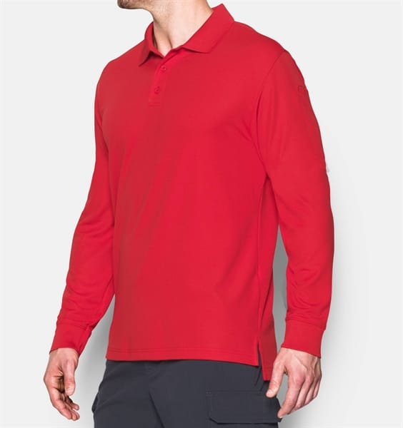 746675ff Under Armour - Men's Tactical Performance Long Sleeve Polo - Military &  Gov't Discounts   GovX