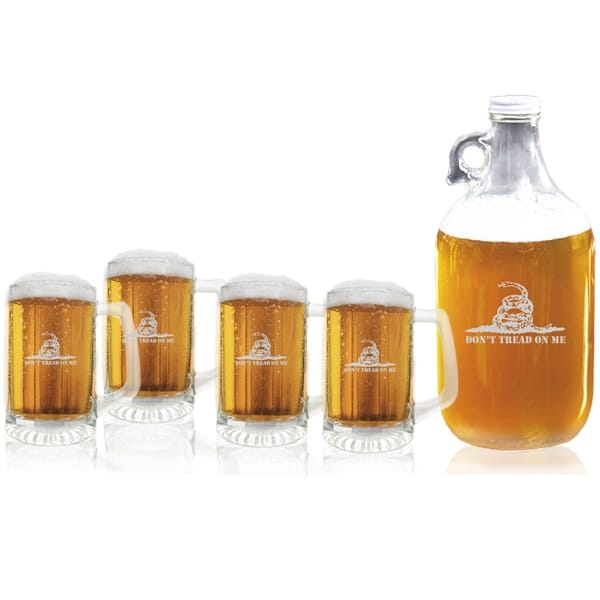 Carved Solutions Dont Tread On Me Series Glassware Military