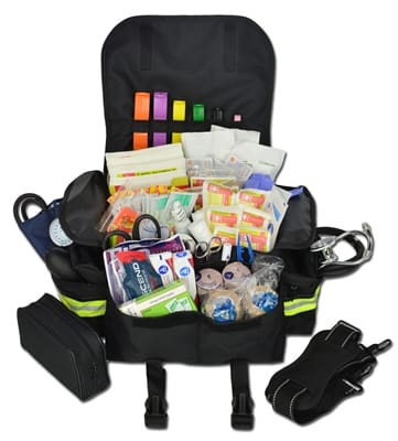 Picture of Small First Responder Bag With Standard Fill Kit - Black