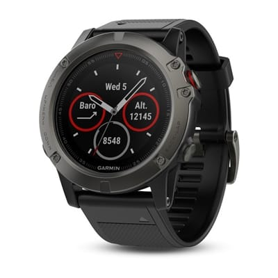 Picture of fēnix® 5X Sapphire Multisport GPS Watch - Slate Gray/ Silicon Black Band