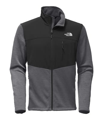 Picture of Men's Norris Full Zip - Asphalt Grey Heather/TNF Black - S
