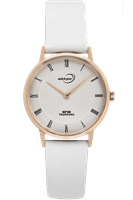 Picture of 32mm Rose Gold Tone Silver Dial Watch - White