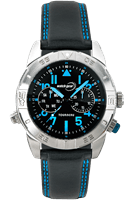 Picture of 43mm Blue Luminous Dial Watch - Blue - Black