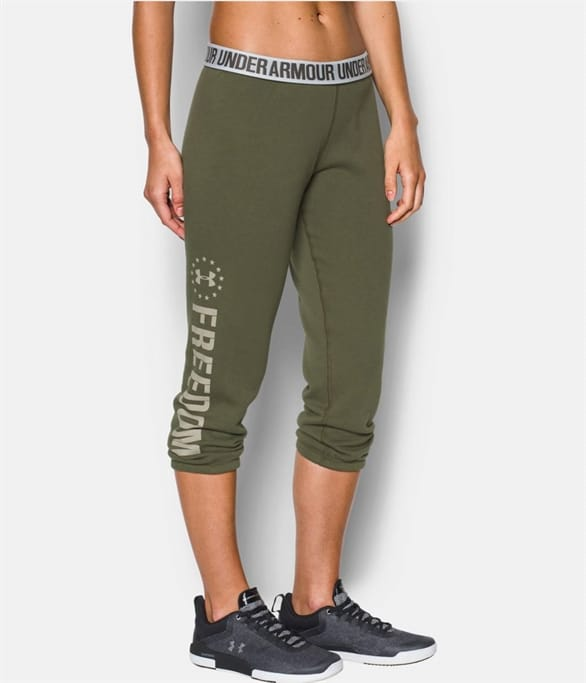 5e76ea2d3e737 Under Armour - Freedom Favorite Fleece Capri Pants Military Discount ...