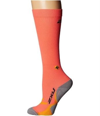 Picture of Women's Flight Compression Socks - Fiery Coral/Yellow - XS