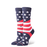 Picture of Women's Come Together Tomboy Socks - Blue - M