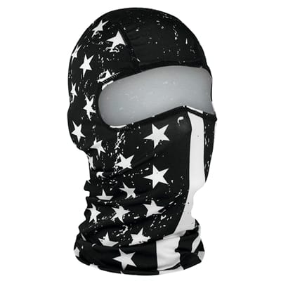 Picture of Polyester Balaclava - Black/White Flag