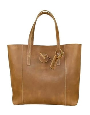 Picture of Women's Vintage Glove Leather Tote - Caramel
