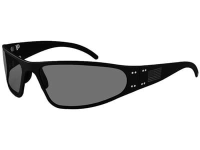 Picture of Patriot Edition Wraptor Blackout Polarized Sunglasses - Black/Smoke Polarized