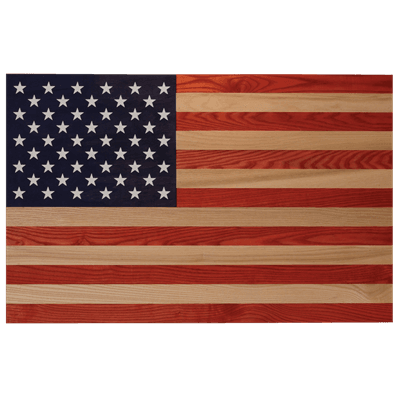 Picture of Full Color Washed Wall Flag - Red/White/Blue