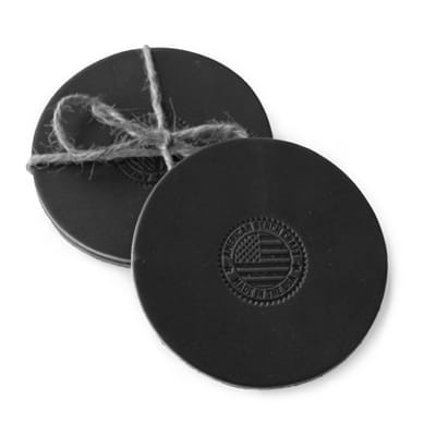 Picture of Leather Coasters - Black