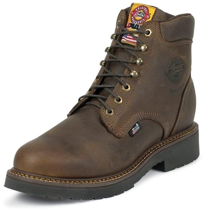 b8dfa434f4a Justin Original Workboots - Men's Rugged Bay Gaucho Steel Toe Boots ...