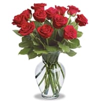 Picture of Dozen Roses Vase - Wednesday, January 23, 2019