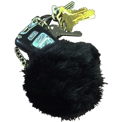Picture of Fur Ball Keychain Alarm - Black