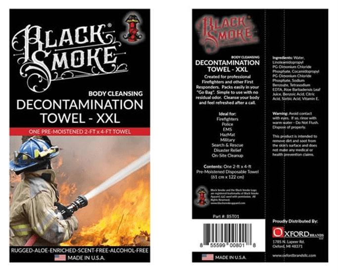 Oxford Brands LLC - Black Smoke Decontamination Towel - 30