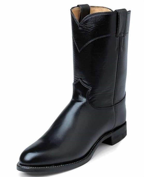 d858648da28 Justin Western Boots - Men's Black Melo Boots - 3170 Military ...