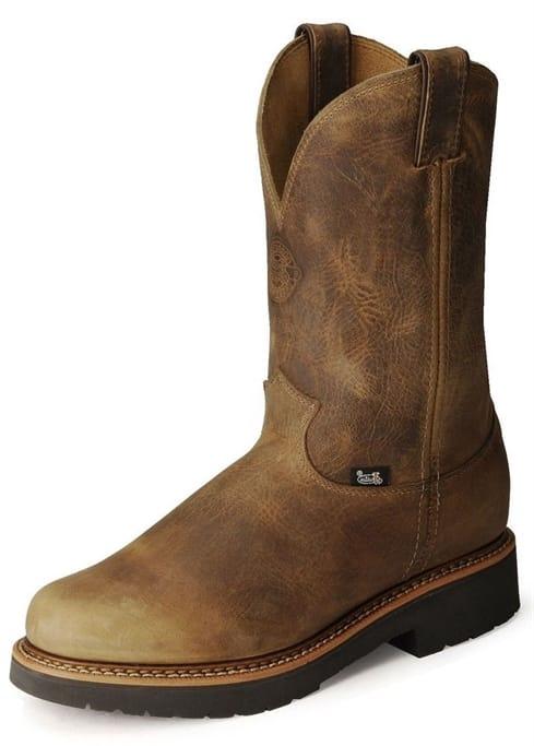 f0a18844164 Justin Original Workboots - Men's Rugged Tan Gaucho Steel Toe Boots ...
