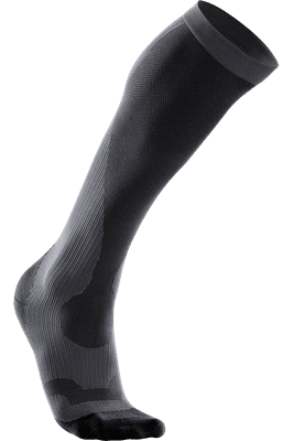 Picture of Men's Compression Performance Run Sock - Titanium/Black - XS