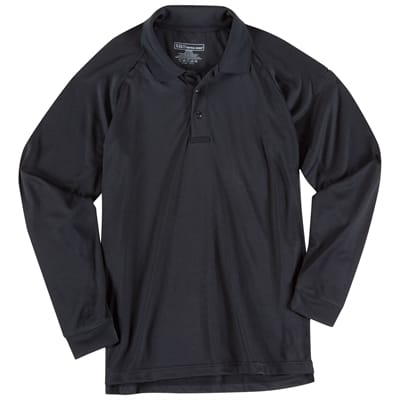 Picture of Performance Polo - Long Sleeve - Black - M - Regular